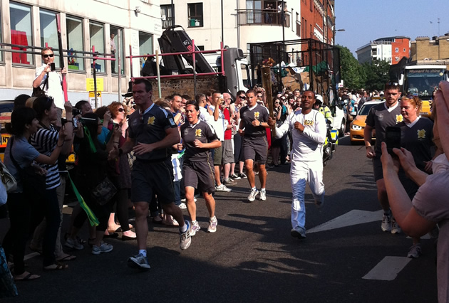 Olympic Torch Bearer Running