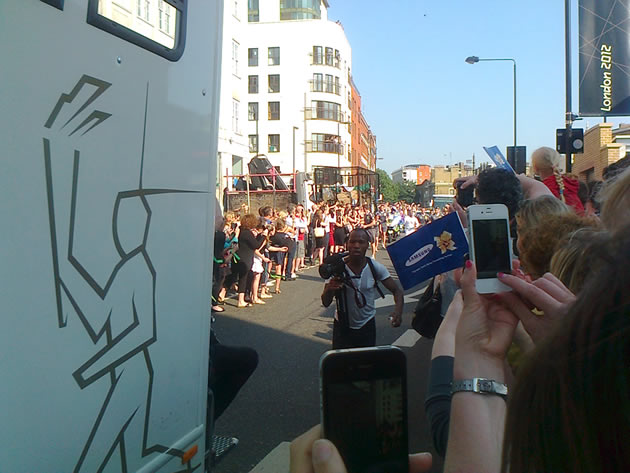 Olympic Torch - Getting Nearer