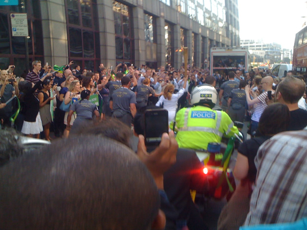 Olympic Torch - torchbearer off