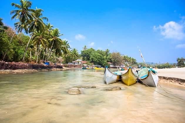 Travel money - Baga beach in Goa, India