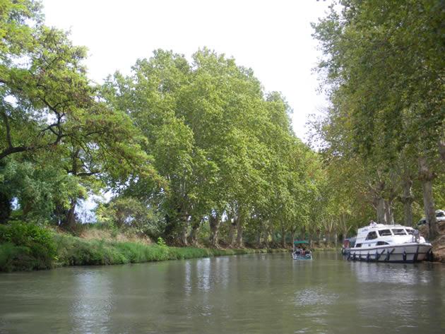 Pezenas France - Canal du Midi