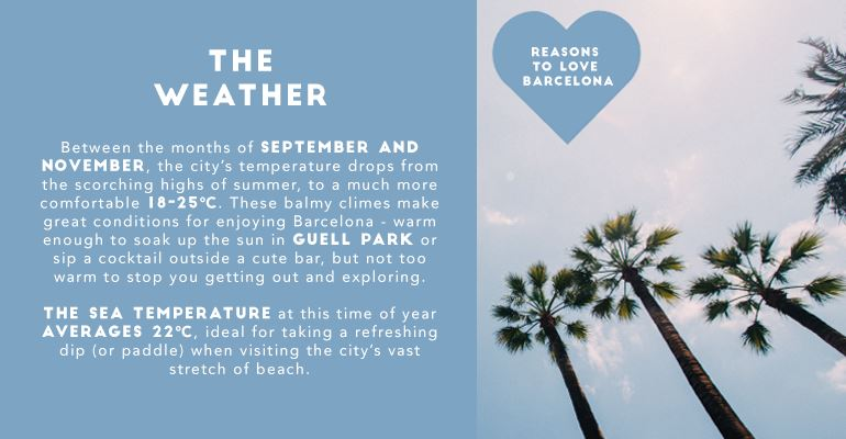 Reasons to Fall In Love with Barcelona: The Weather