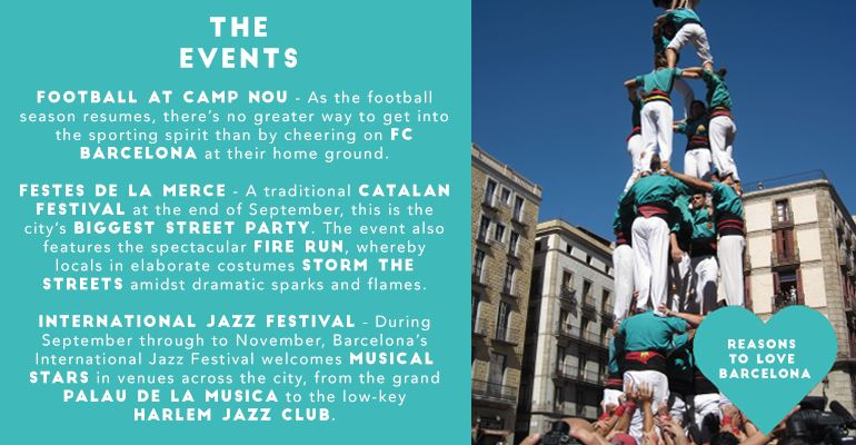 Reasons to Fall In Love with Barcelona: Events