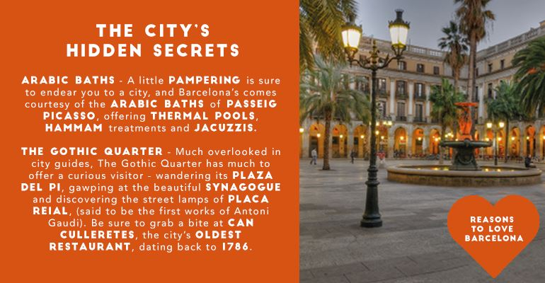 Reasons to Fall In Love with Barcelona: Secrets