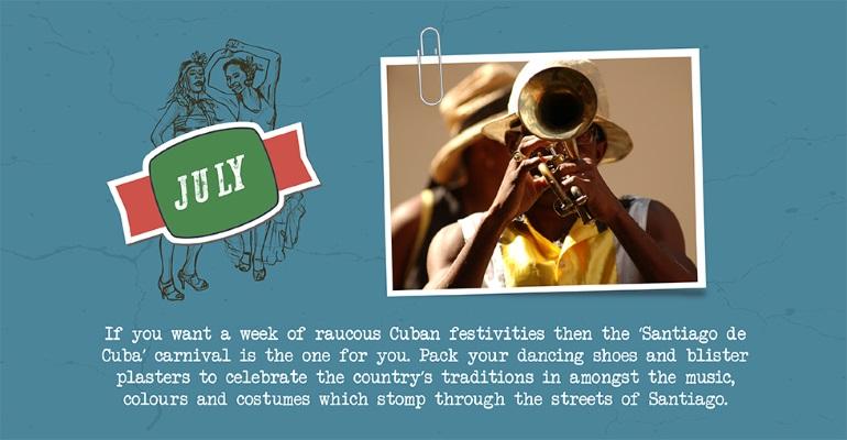 July - Santiago de Cuba festival