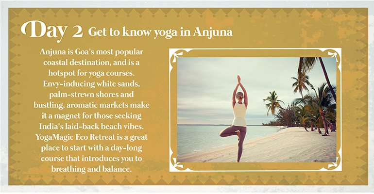 Day 2: Get to know yoga in Anjuna