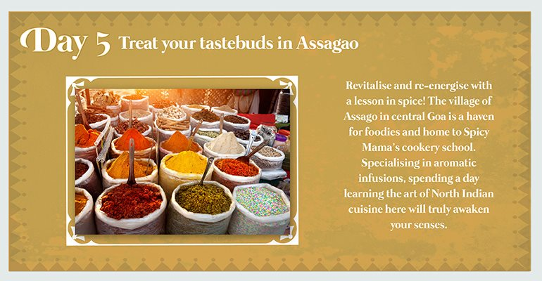 Day 5: Treat your tastebuds in Assagao