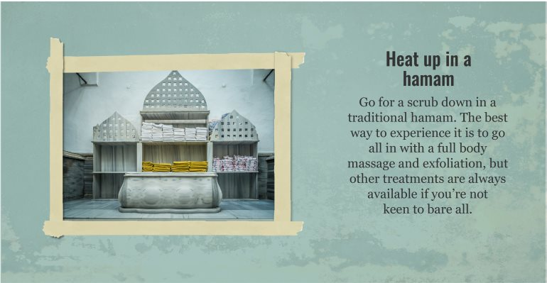 Heat up in a hamam