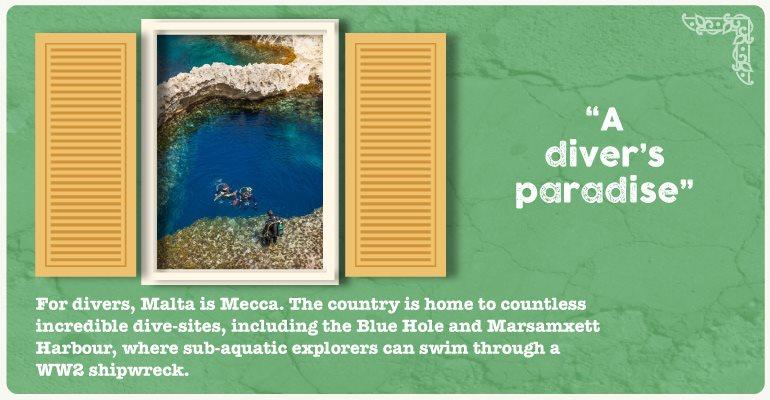A diver's paradise