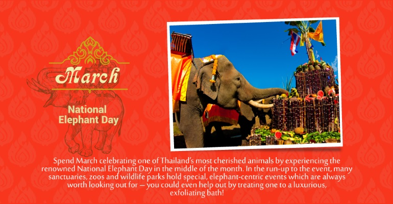 March - National Elephant Day