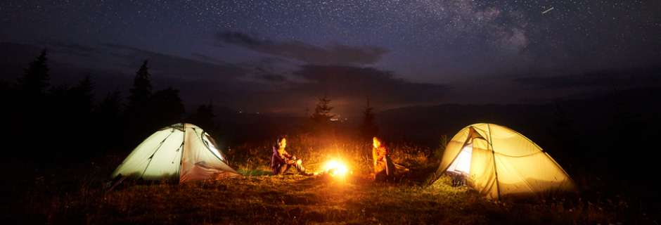 camping under stars