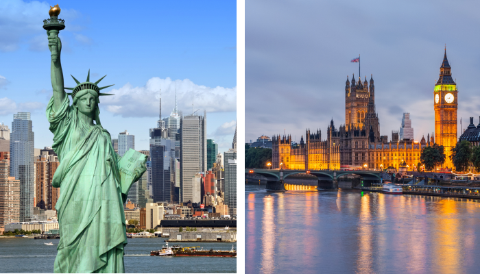 london vs new york