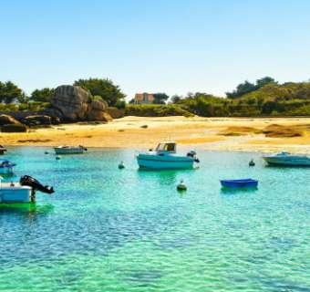 Armor coast, Brittany, France.