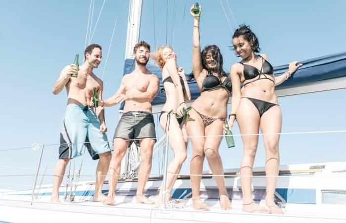 party boat fun in tossa de mar