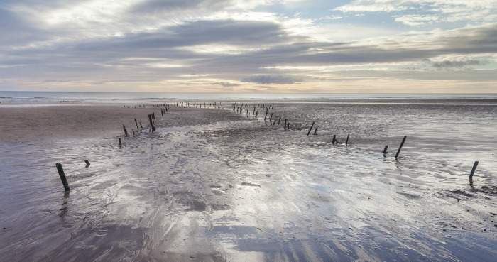 Lunan Bay in Scotland