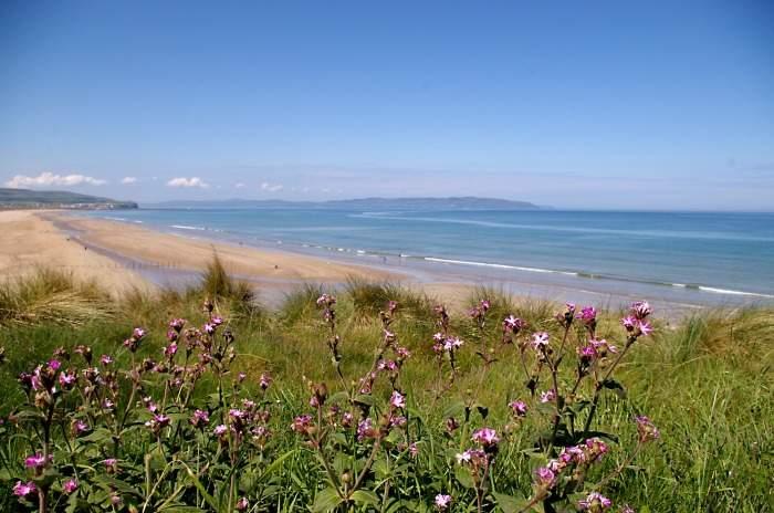 portstewart strand in northern ireland