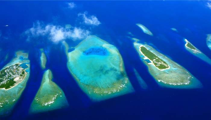 aerial of maldives