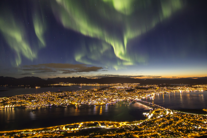 Northern Lights over Tromso, Norway