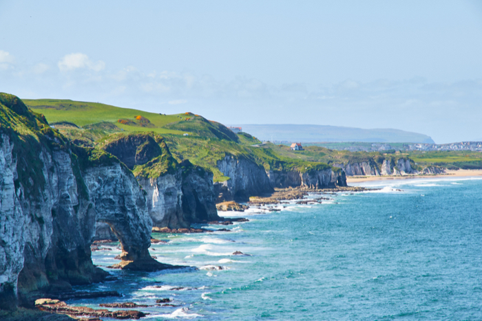 limestone cliffs of the Causeway Coastal Route, Northern Ireland