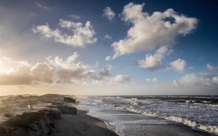 wild Sondervig Strand beach on west Denmark's North Sea coast