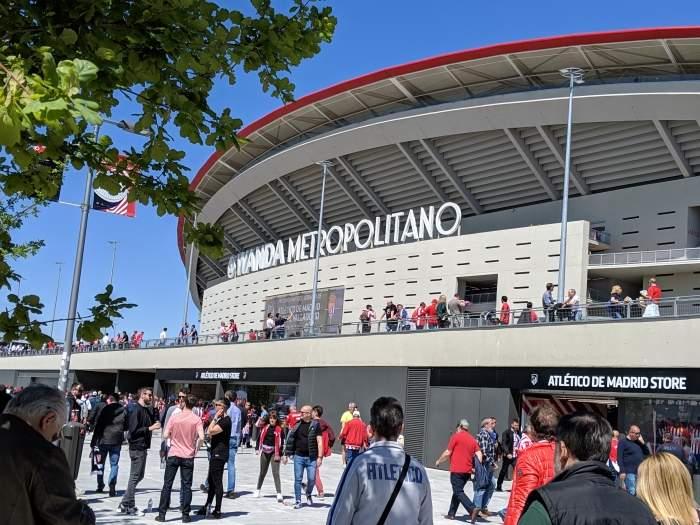 Exterior of Atletico Madrid's Wanda Metropolitano stadium