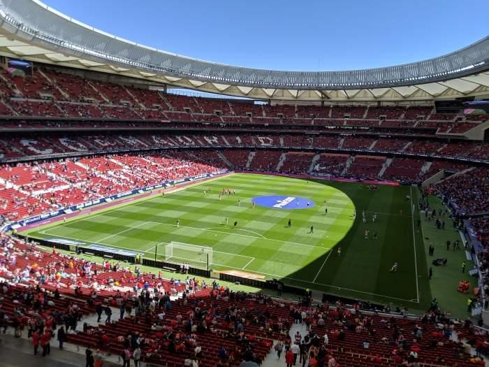 Interior of Atletico Madrid's Wanda Metropolitano Stadium