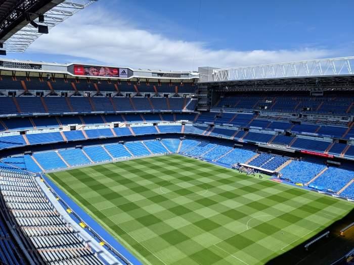 Interior of Real Madrid's Santiago Bernabéu Stadium