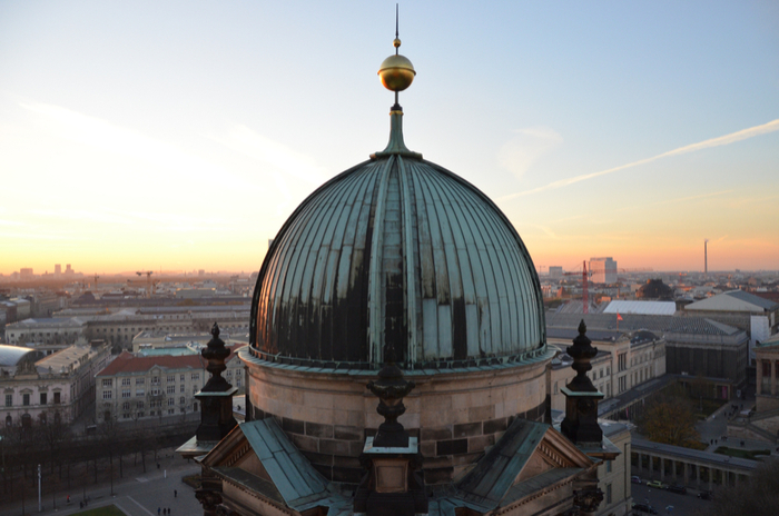 View of Berlin over cathedral