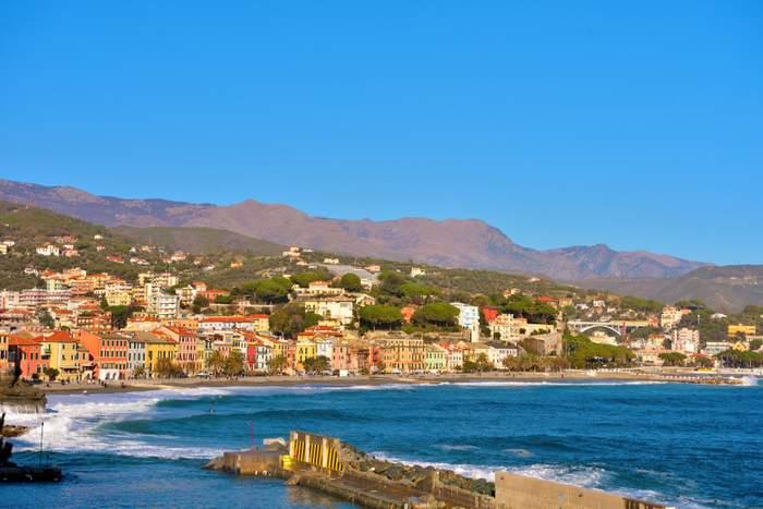 beach liguria italy