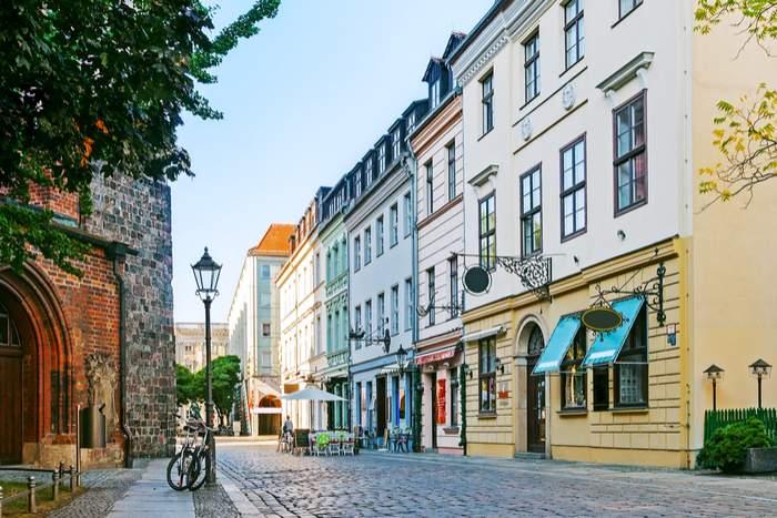 Side street in Berlin with bike