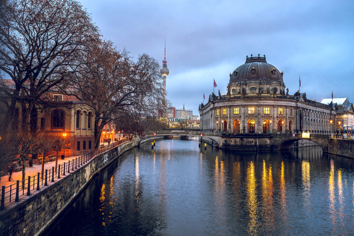 View of the Spree River and Museum Island in Berlin