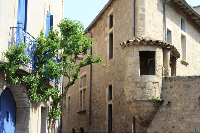 street in pezenas in languedoc-roussillon