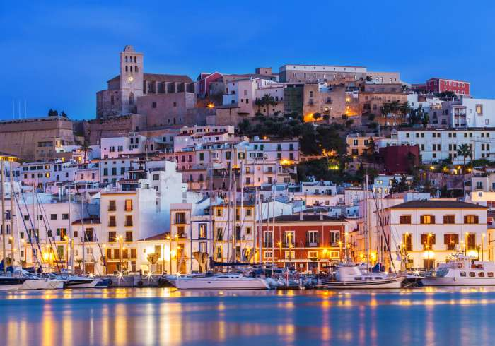 Old Town Ibiza from the sea