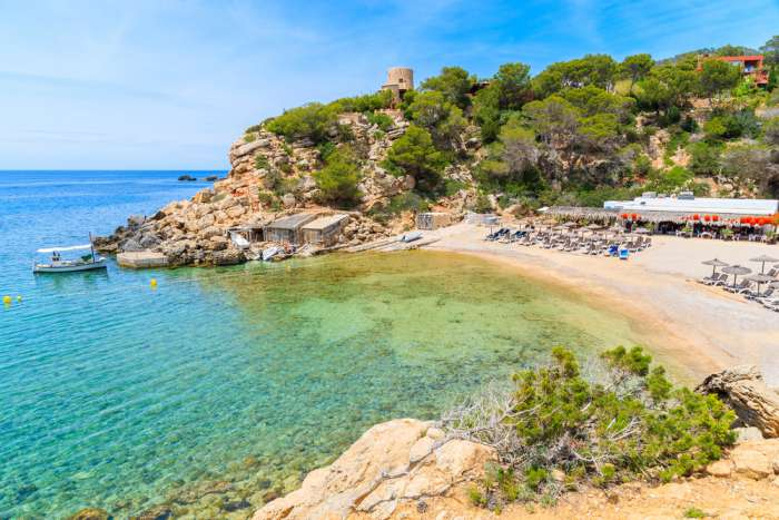 Cala Carbo beach and sea