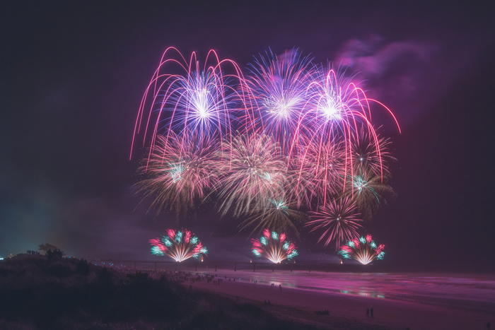 New Zealand's Christchurch New Brighton Pier Firework Display
