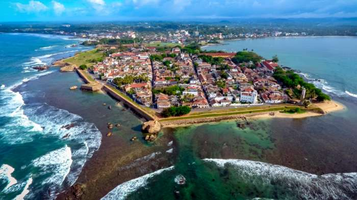 Aerial view of Galle Fort, Sri Lanka