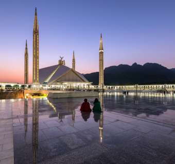 Shah Faisal Mosque in Islamabad, Pakistan