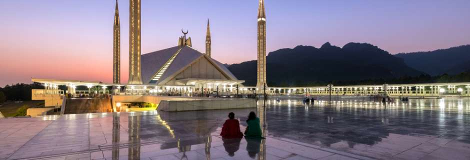Shah Faisal Mosque in Islamabad, Pakistan