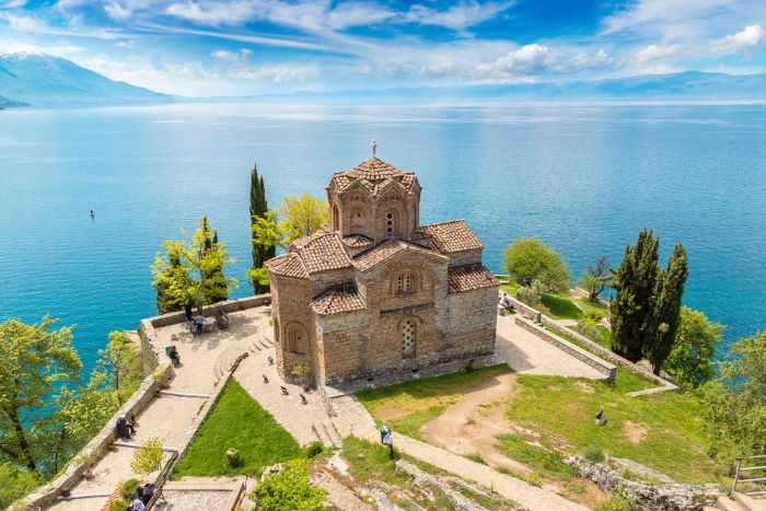 Fortress overlooking Ohrid lake