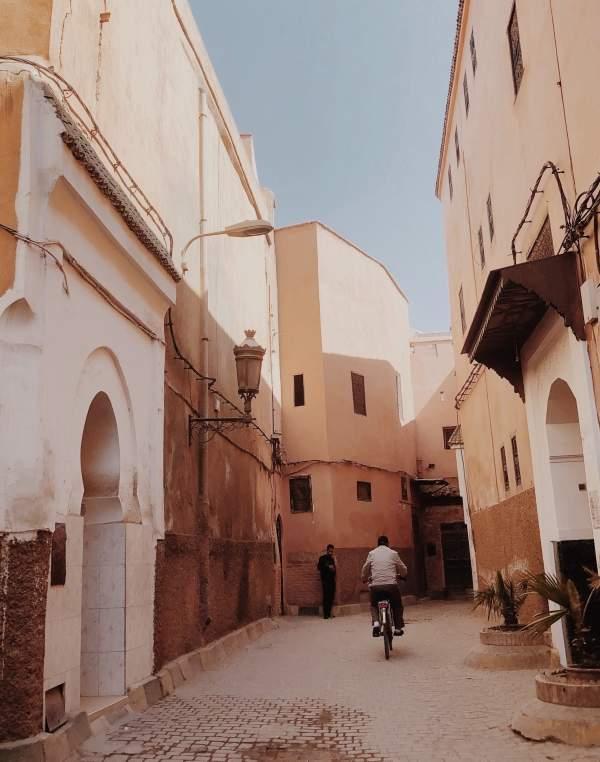 man riding bike in Marrakech