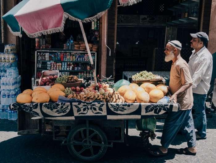 fruit sellers in Marrakech