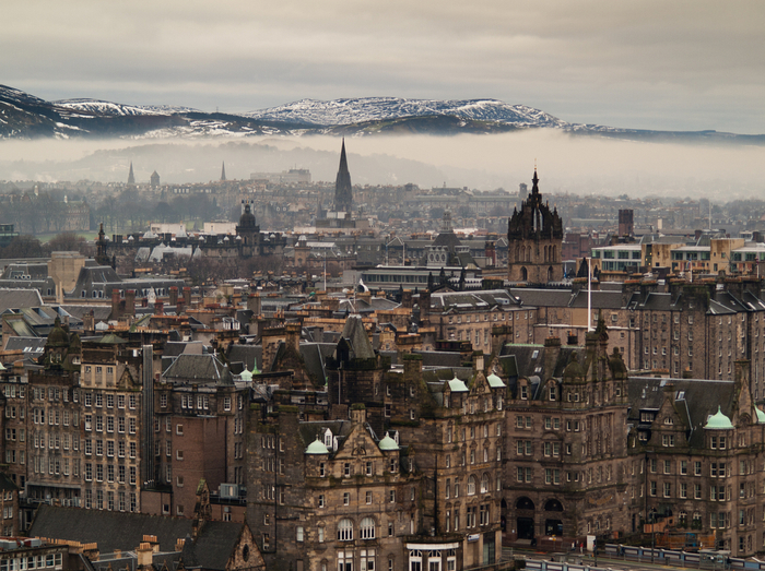 Edinburgh rooftops, Scotland