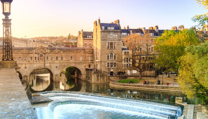 Pulteney Bride in Bath during Golden Hour