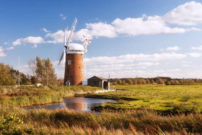 Horsea Wind Pump on the Norfolk Broads