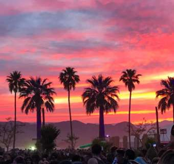 Palm Springs and Coachella Festival at Sunset