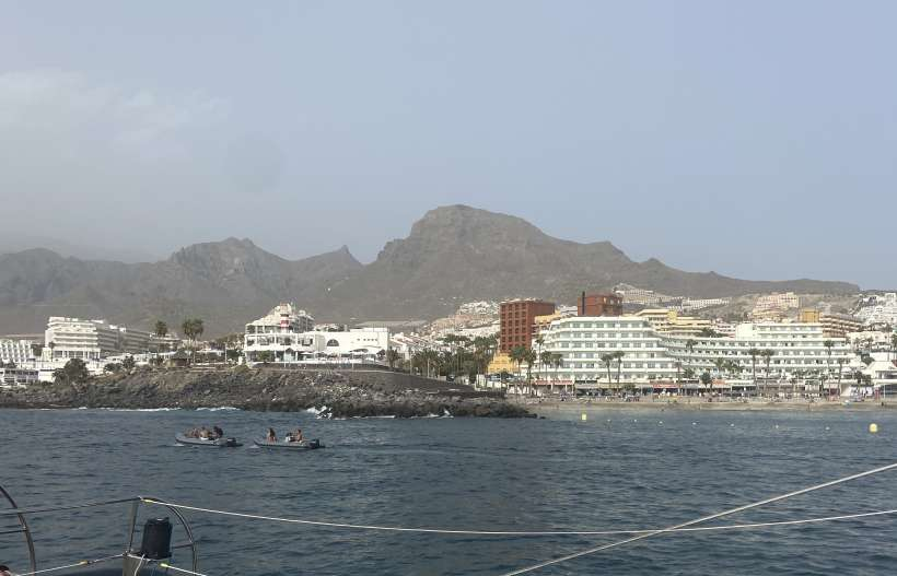 View of the shore in Tenerife