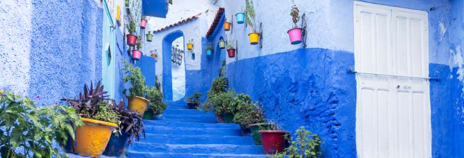 Chefchaouen blue town in Morocco