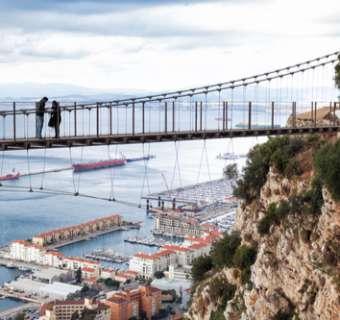 View of Gibraltar from Windsor Suspension Bridge