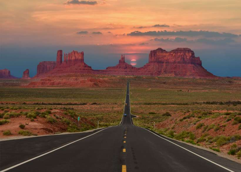 Route 66 on the road