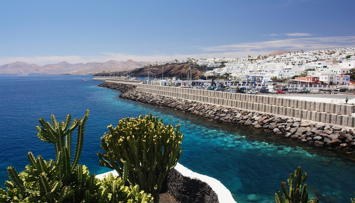 Puerto del Carmen coastline, Lanzarote